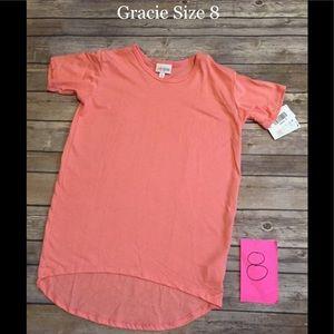 LuLaRoe Girls Gracie size 8 Coral NWT
